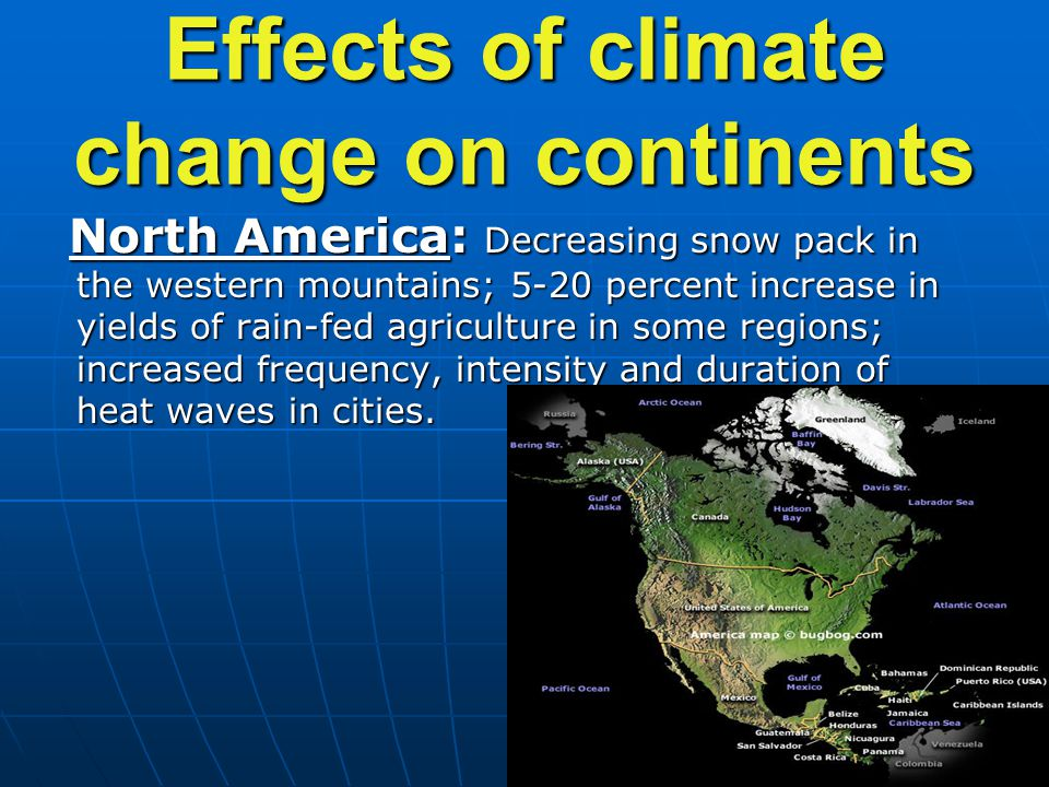 Effects of climate change on continents