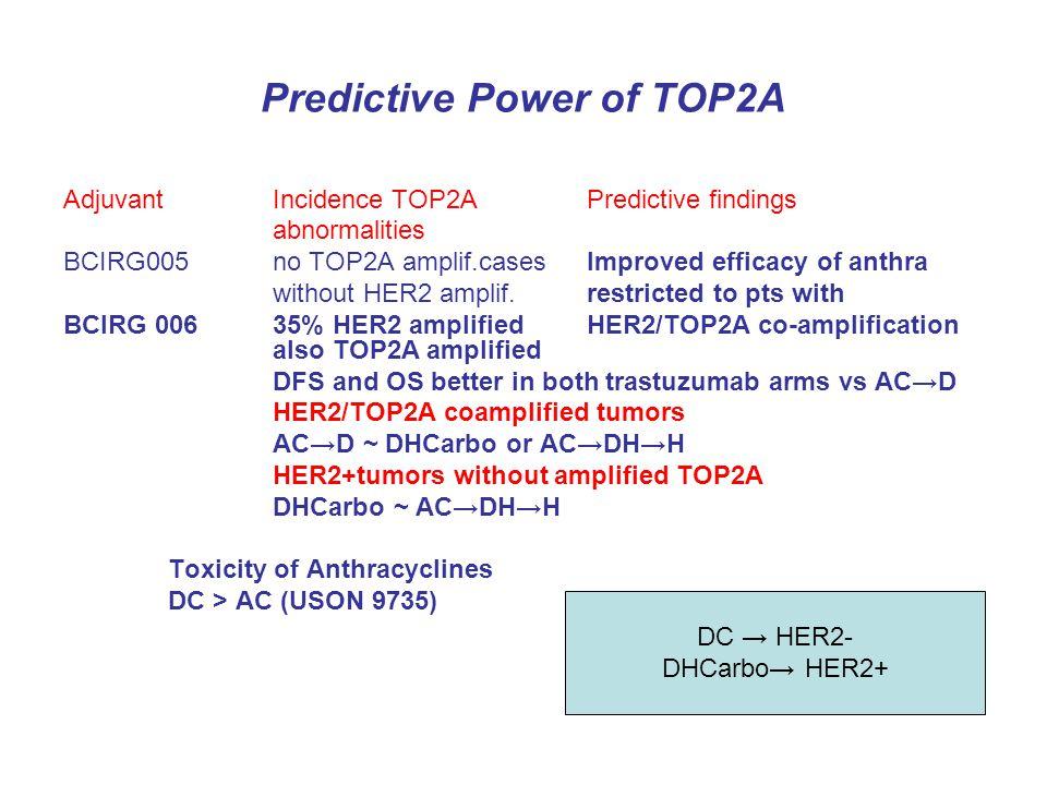 Predictive Power of TOP2A