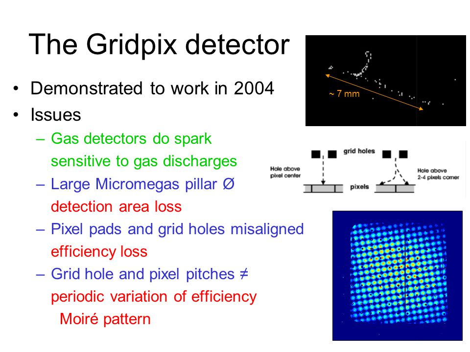 The Gridpix detector Demonstrated to work in 2004 Issues