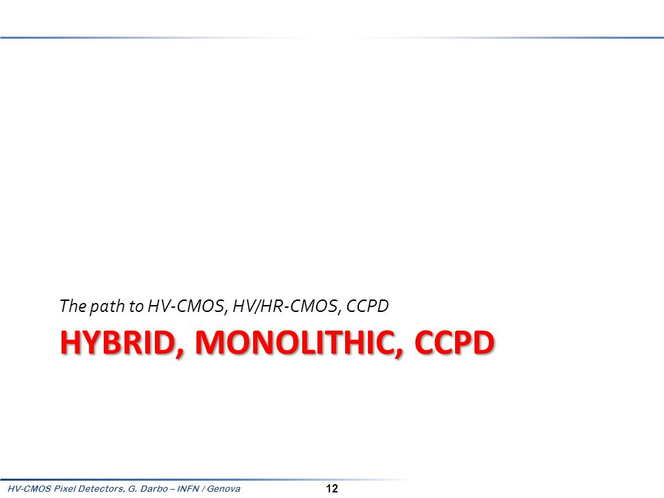 Hybrid, Monolithic, CCPD