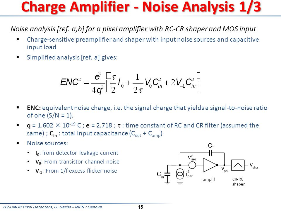 Charge Amplifier - Noise Analysis 1/3