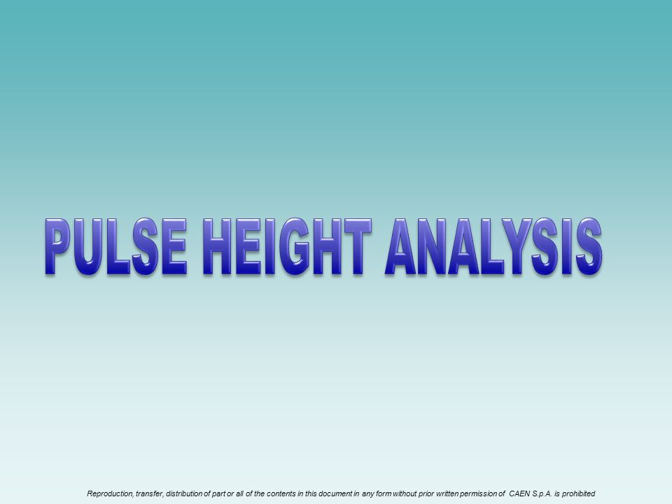 PULSE HEIGHT ANALYSIS