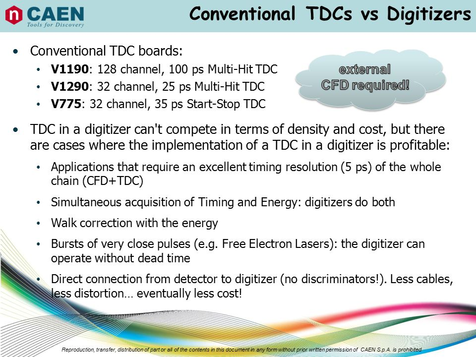 Conventional TDCs vs Digitizers