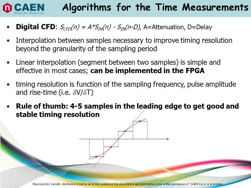 Algorithms for the Time Measurements
