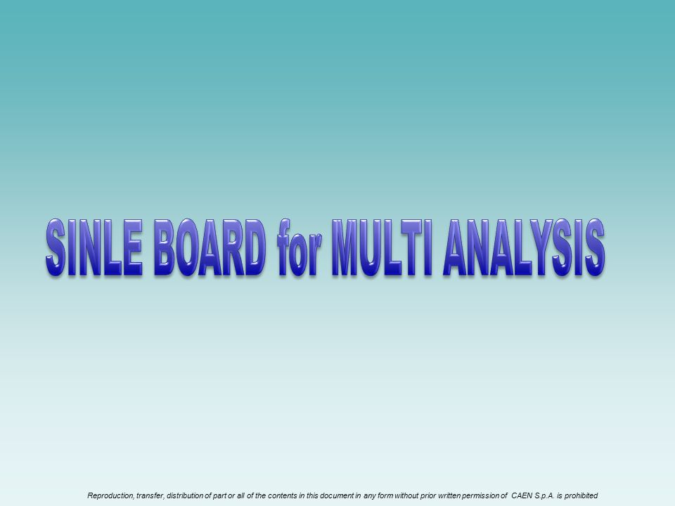 SINLE BOARD for MULTI ANALYSIS