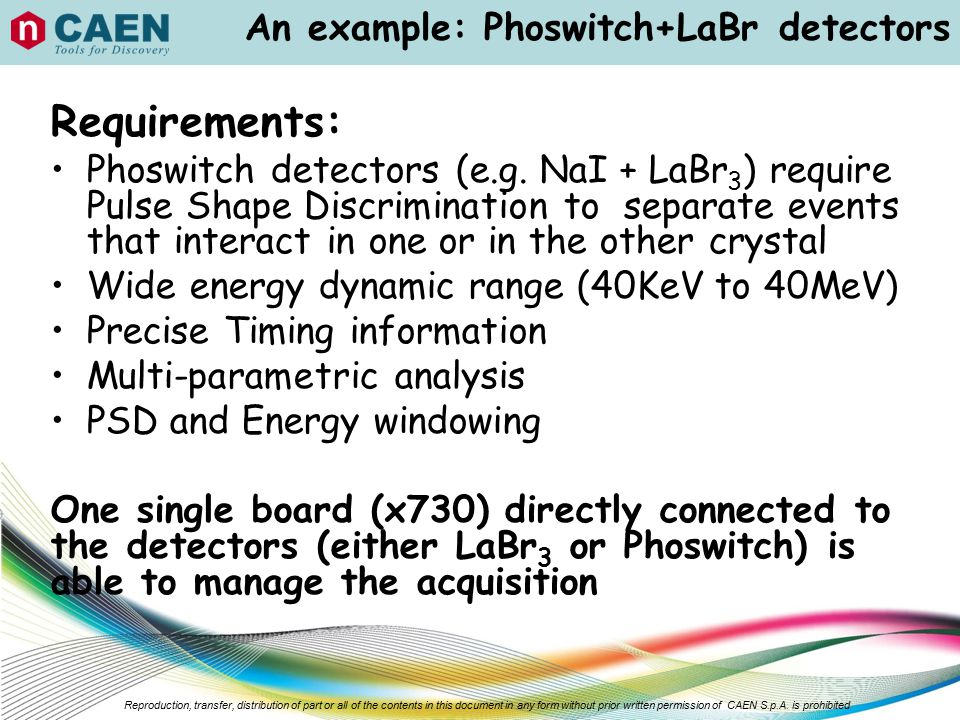 An example: Phoswitch+LaBr detectors