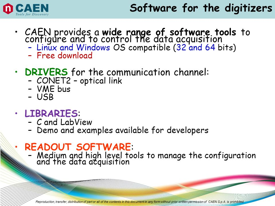 Software for the digitizers