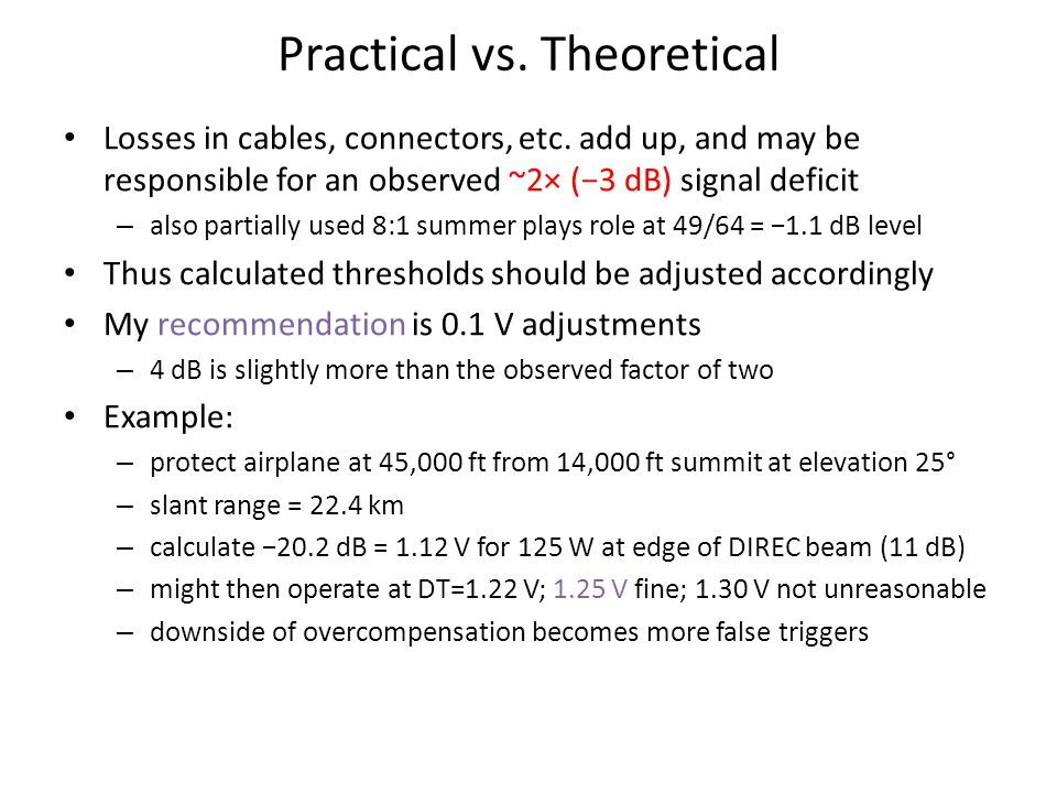 Practical vs. Theoretical