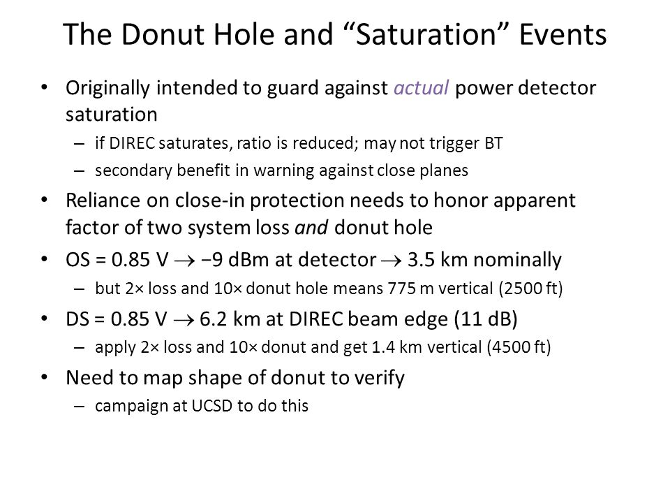 The Donut Hole and Saturation Events