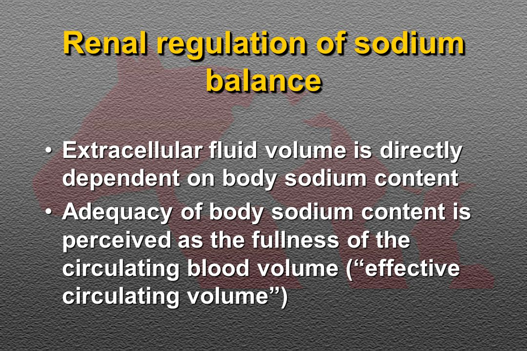 Renal regulation of sodium balance