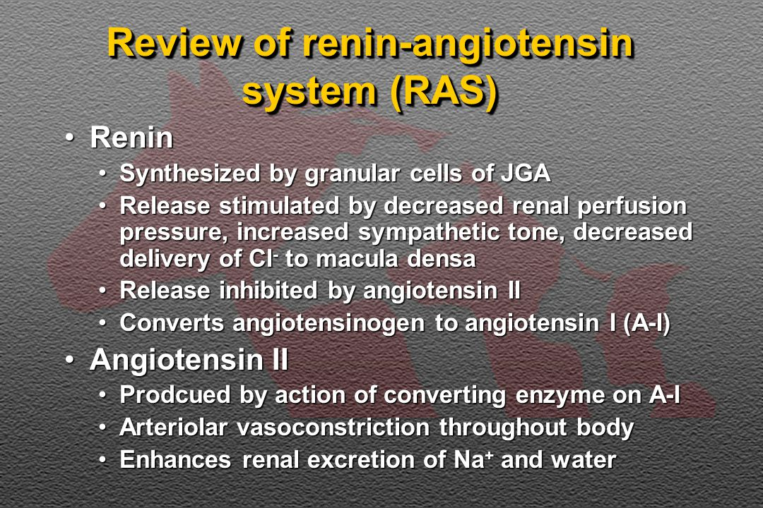 Review of renin-angiotensin system (RAS)