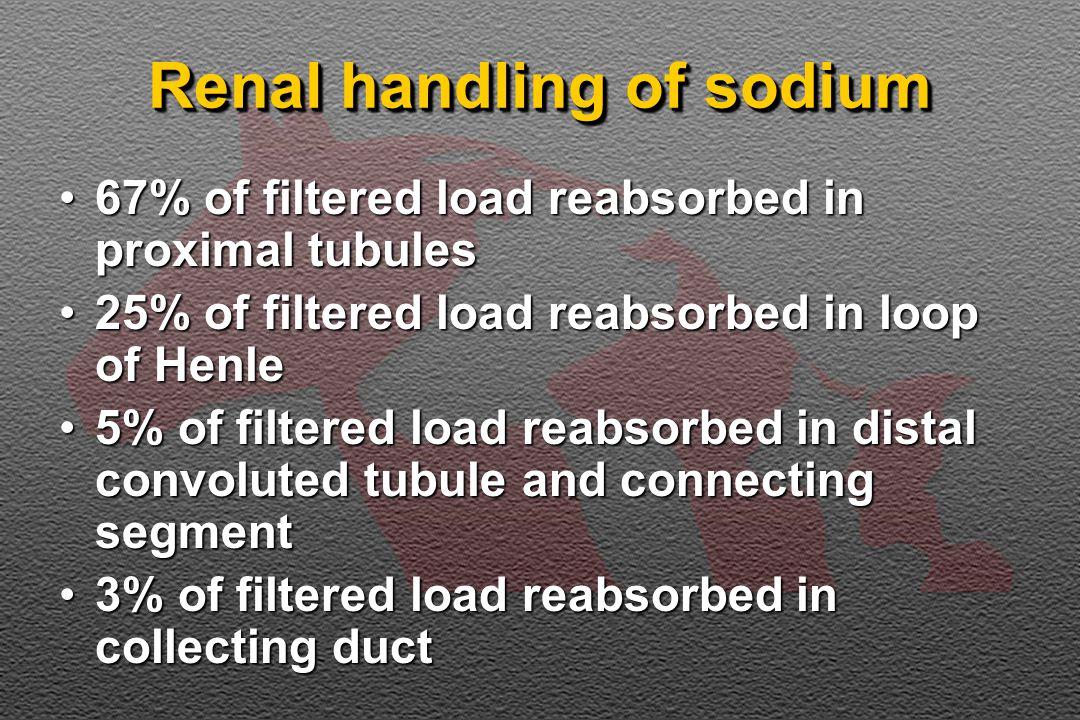 Renal handling of sodium