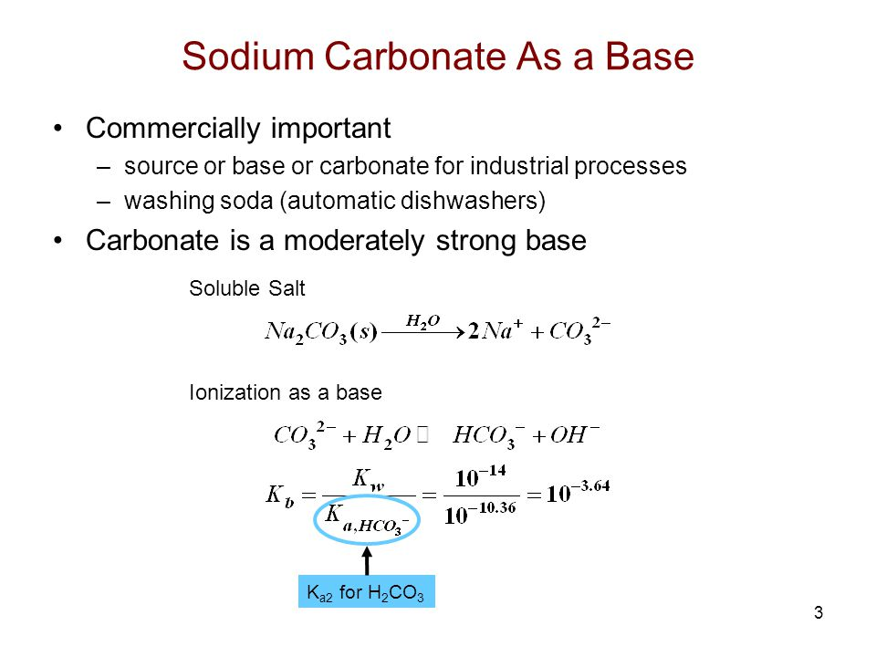 Sodium Carbonate As a Base