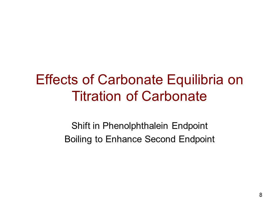 Effects of Carbonate Equilibria on Titration of Carbonate