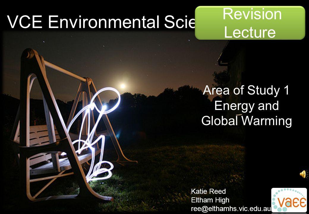 VCE Environmental Science