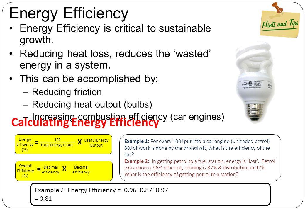 Energy Efficiency Calculating Energy Efficiency