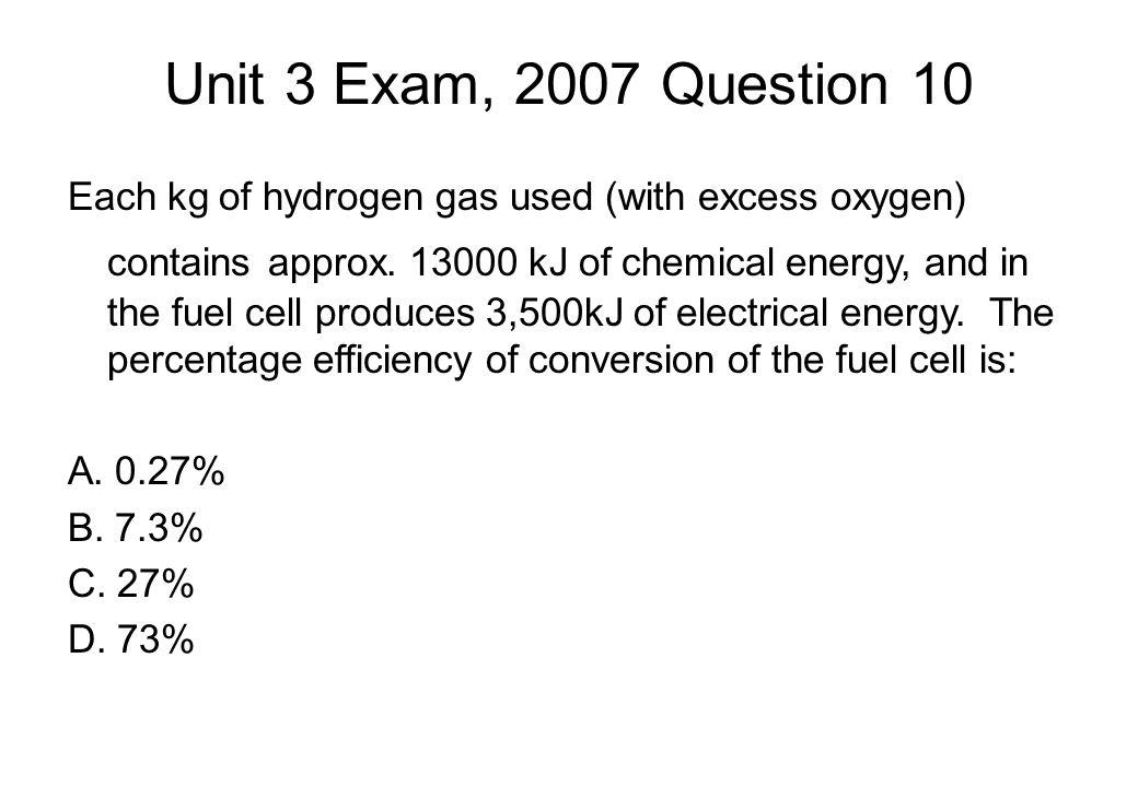 Unit 3 Exam, 2007 Question 10