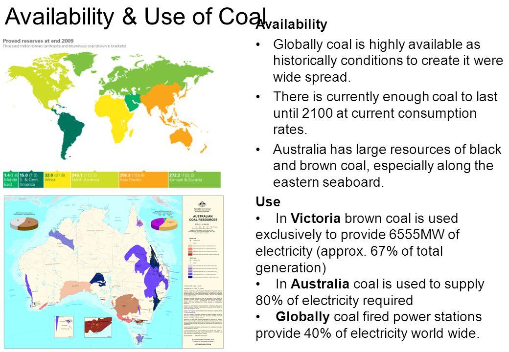 Availability & Use of Coal