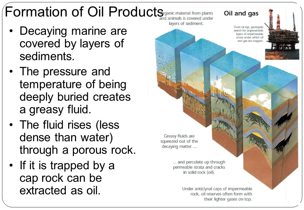 Formation of Oil Products