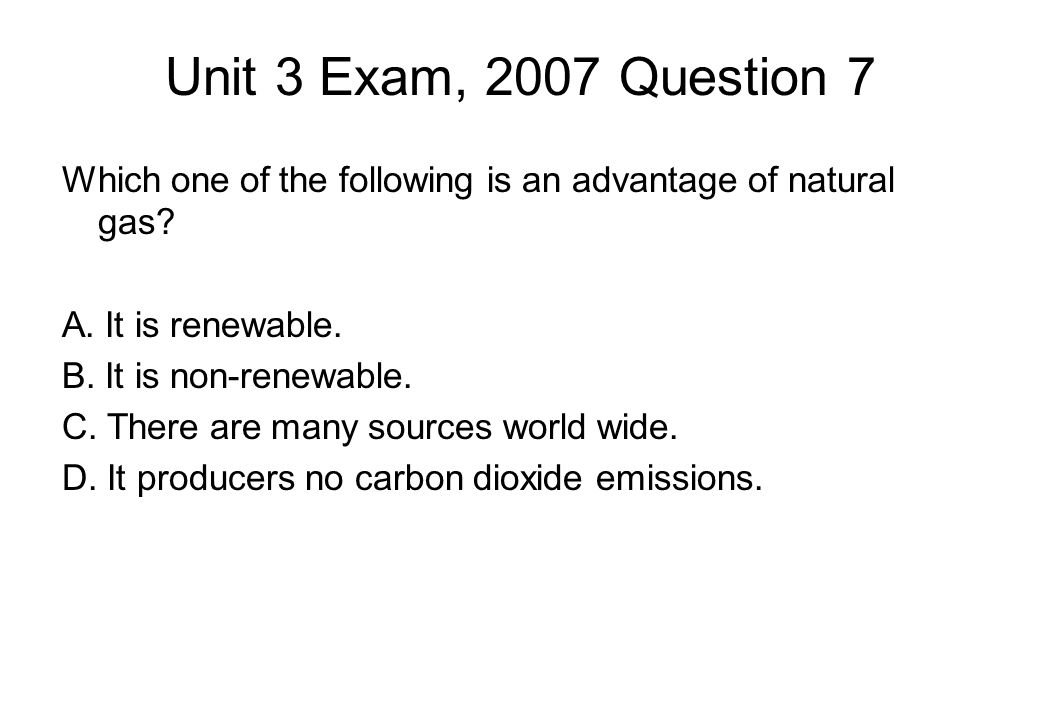 Unit 3 Exam, 2007 Question 7