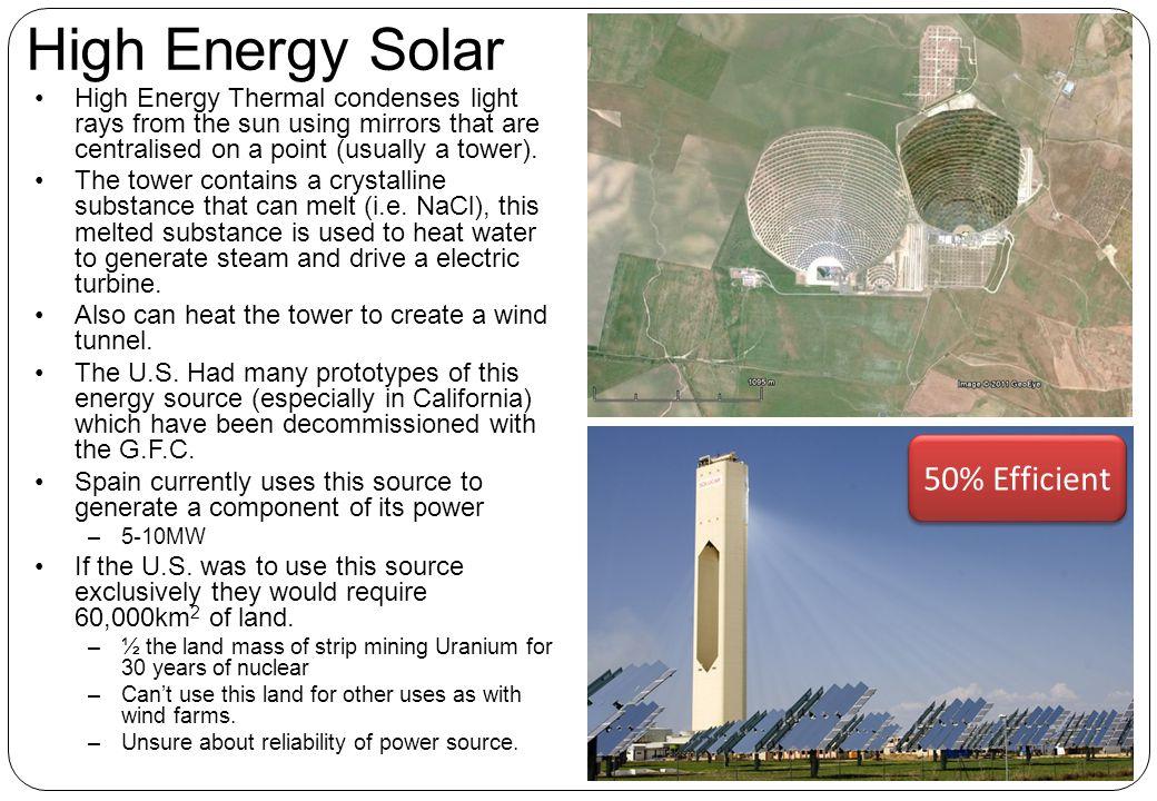 High Energy Solar 50% Efficient