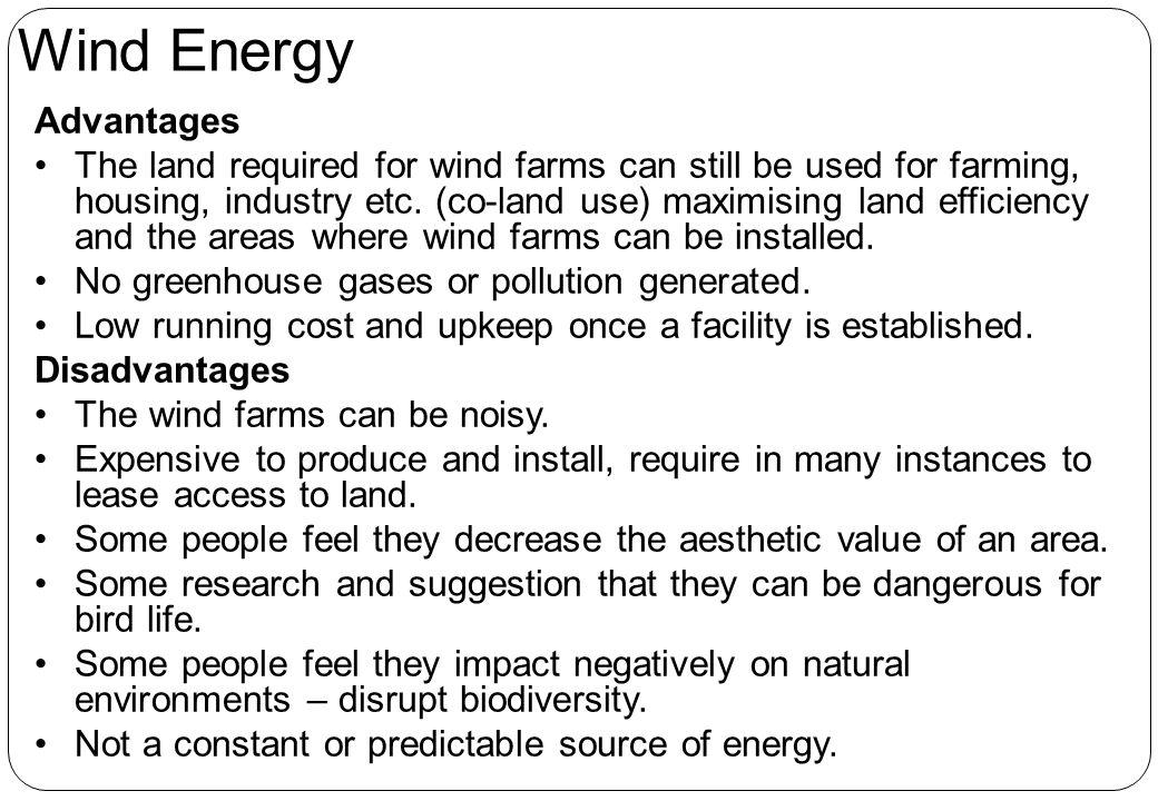 Wind Energy Advantages