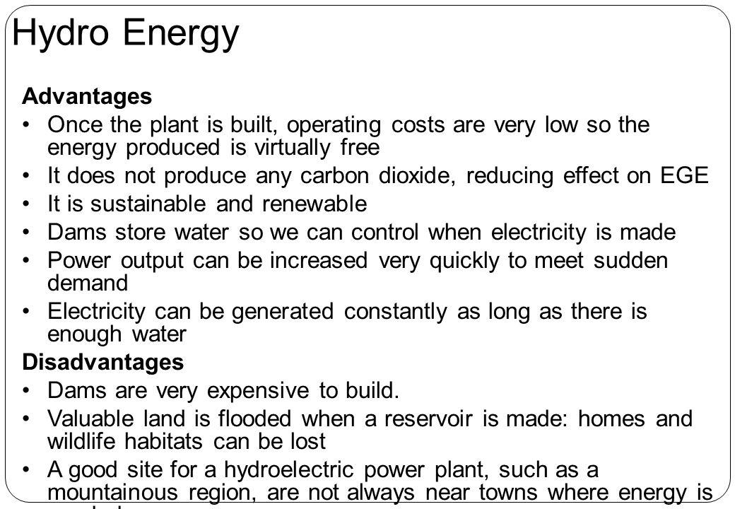 Hydro Energy Advantages