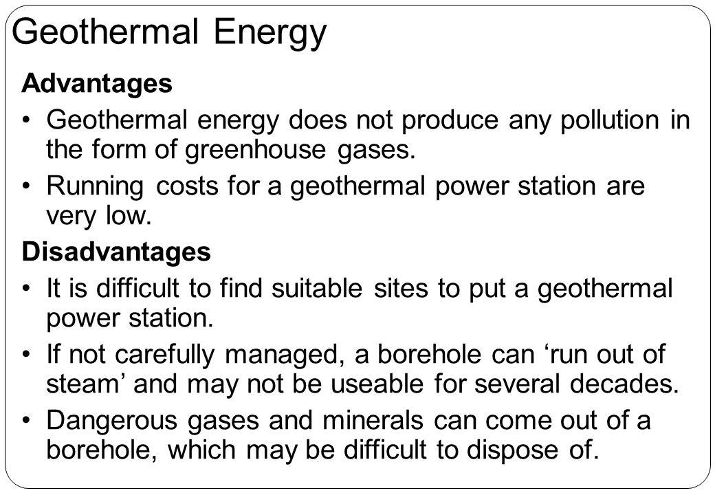Geothermal Energy Advantages