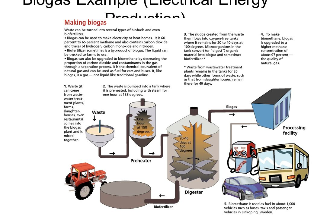 Biogas Example (Electrical Energy Production)