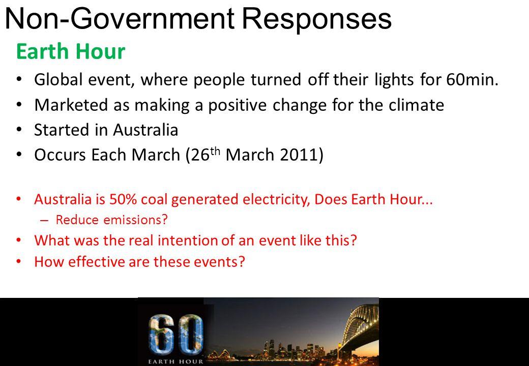 Non-Government Responses