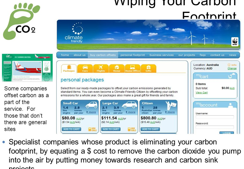 Wiping Your Carbon Footprint