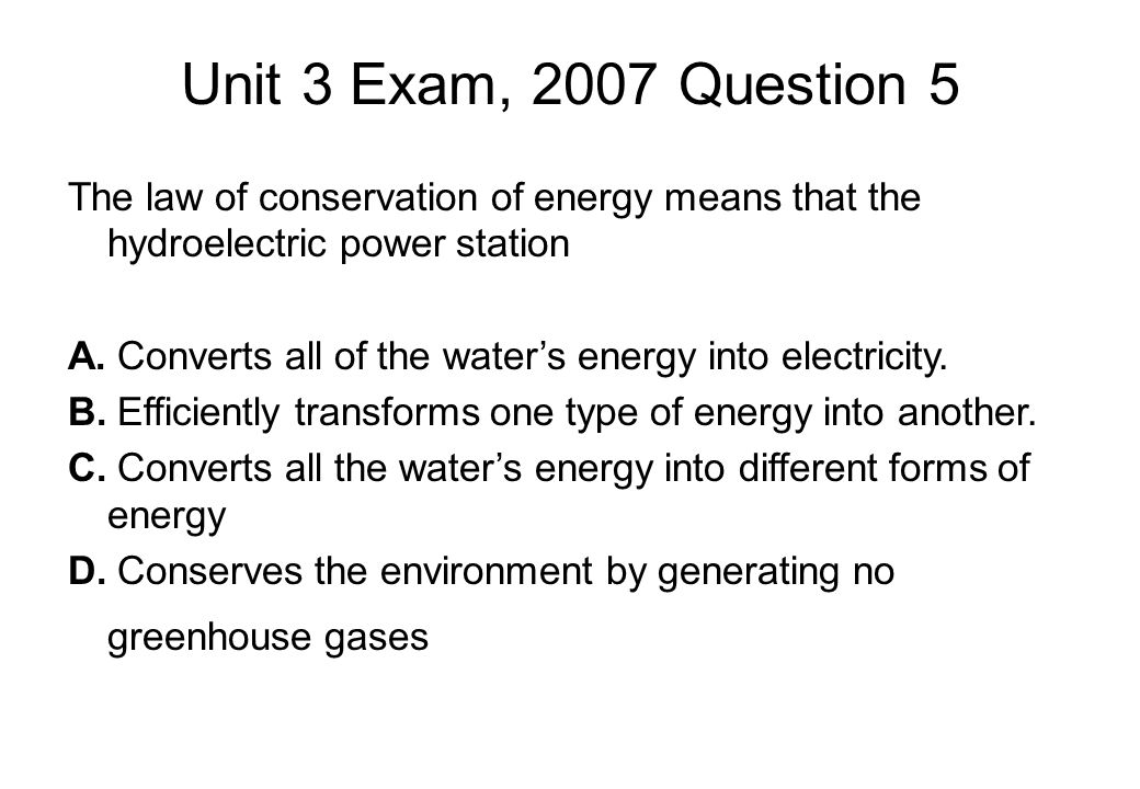 Unit 3 Exam, 2007 Question 5