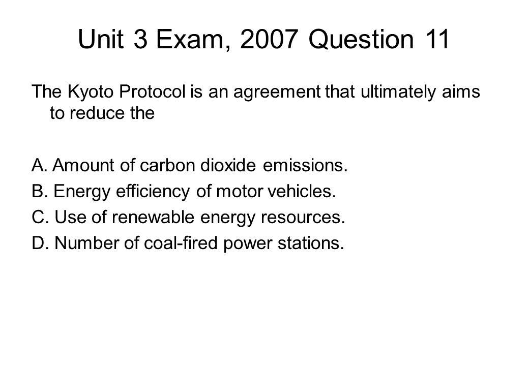 Unit 3 Exam, 2007 Question 11