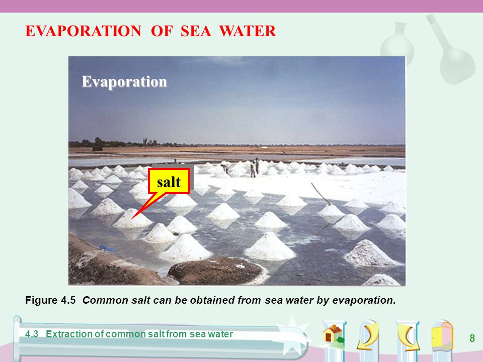 EVAPORATION OF SEA WATER