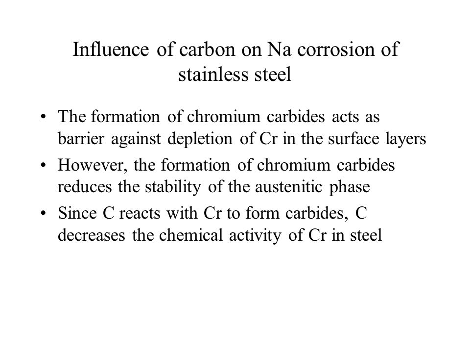 Influence of carbon on Na corrosion of stainless steel