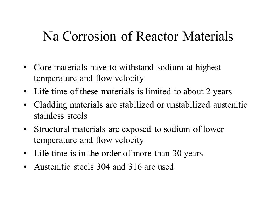 Na Corrosion of Reactor Materials