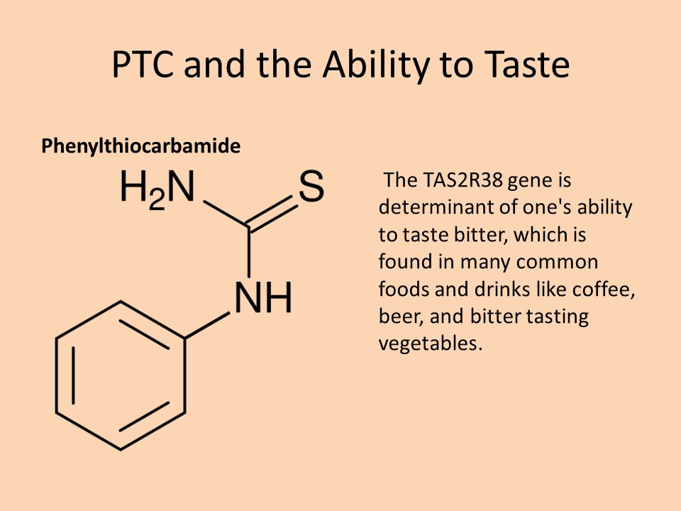 PTC and the Ability to Taste