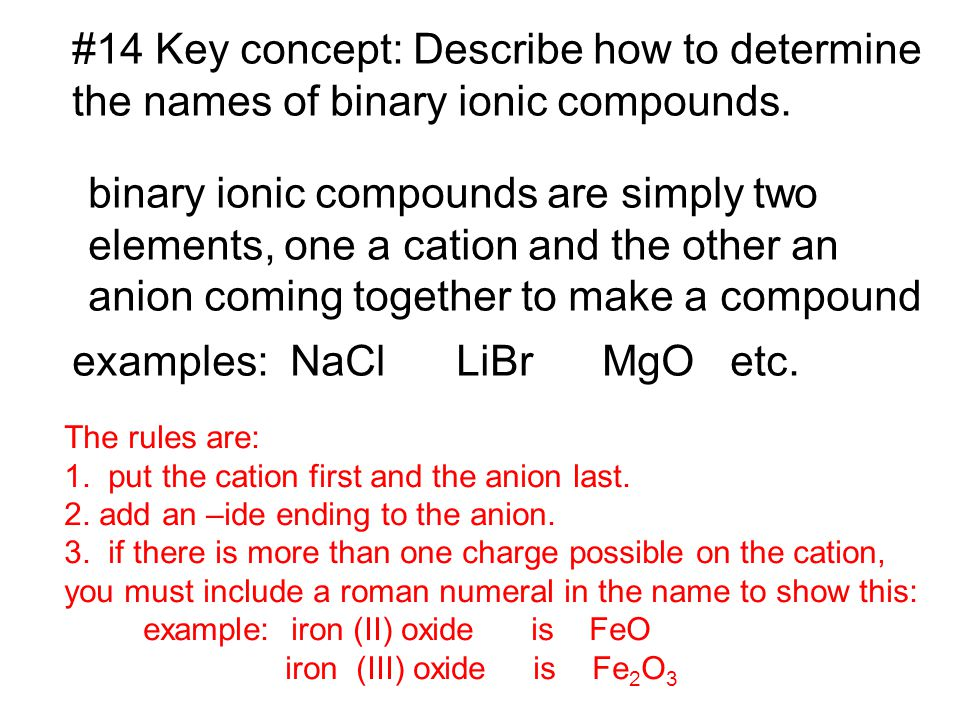 #14 Key concept: Describe how to determine