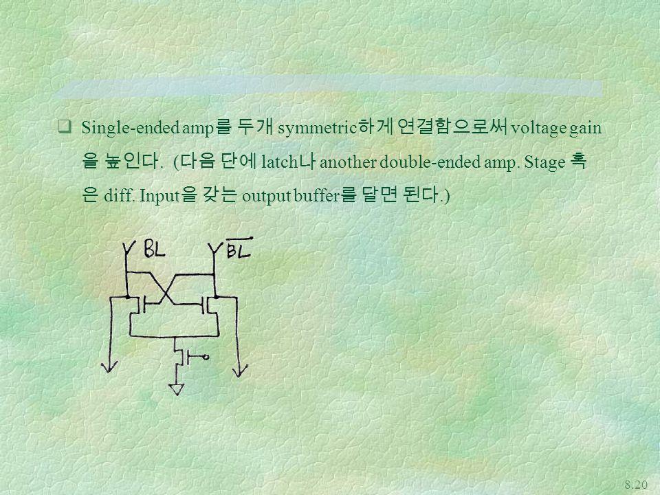 Single-ended amp를 두개 symmetric하게 연결함으로써 voltage gain을 높인다