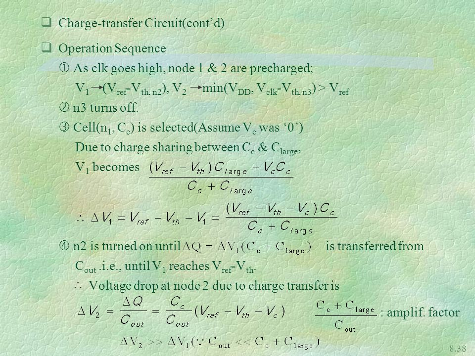 Charge-transfer Circuit(cont'd)