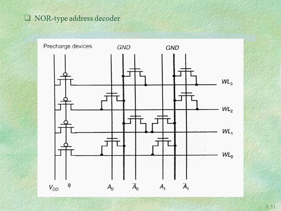 NOR-type address decoder
