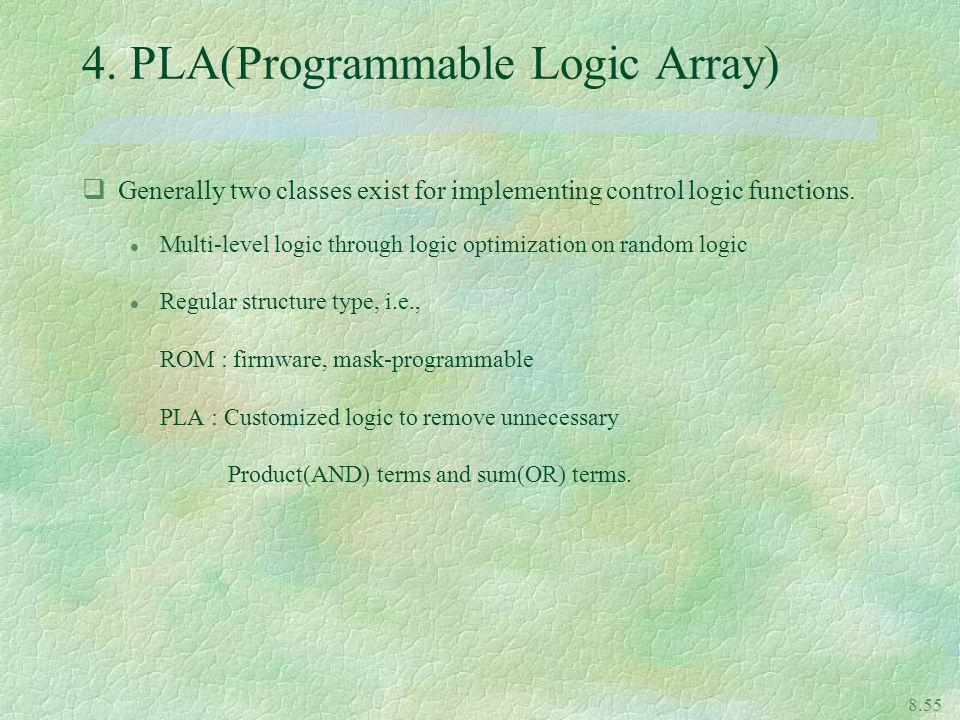 4. PLA(Programmable Logic Array)