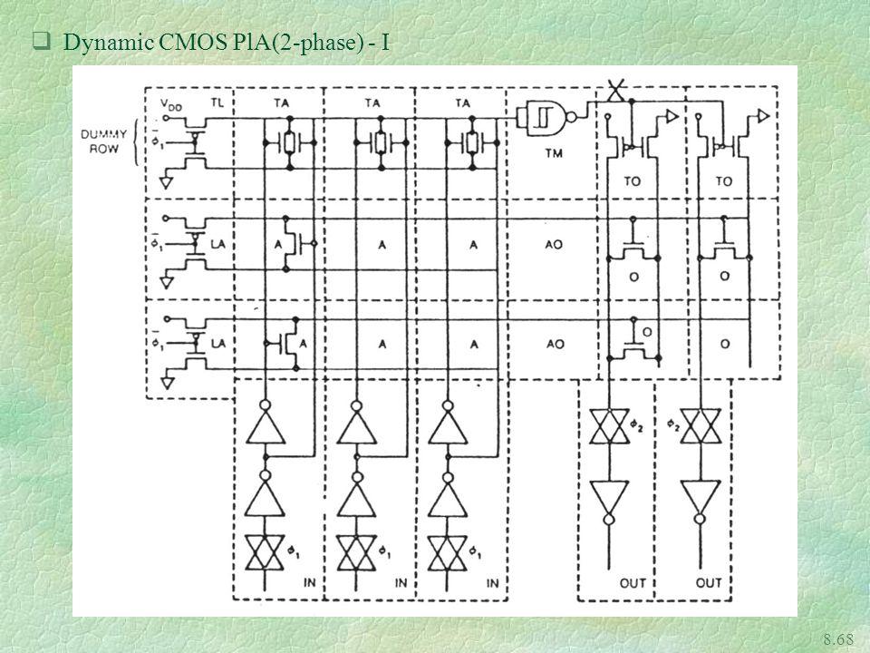 Dynamic CMOS PlA(2-phase) - I