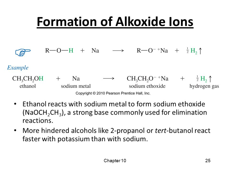 Formation of Alkoxide Ions