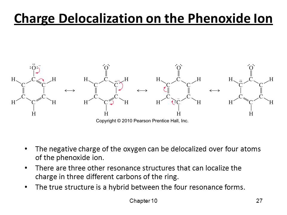 Charge Delocalization on the Phenoxide Ion