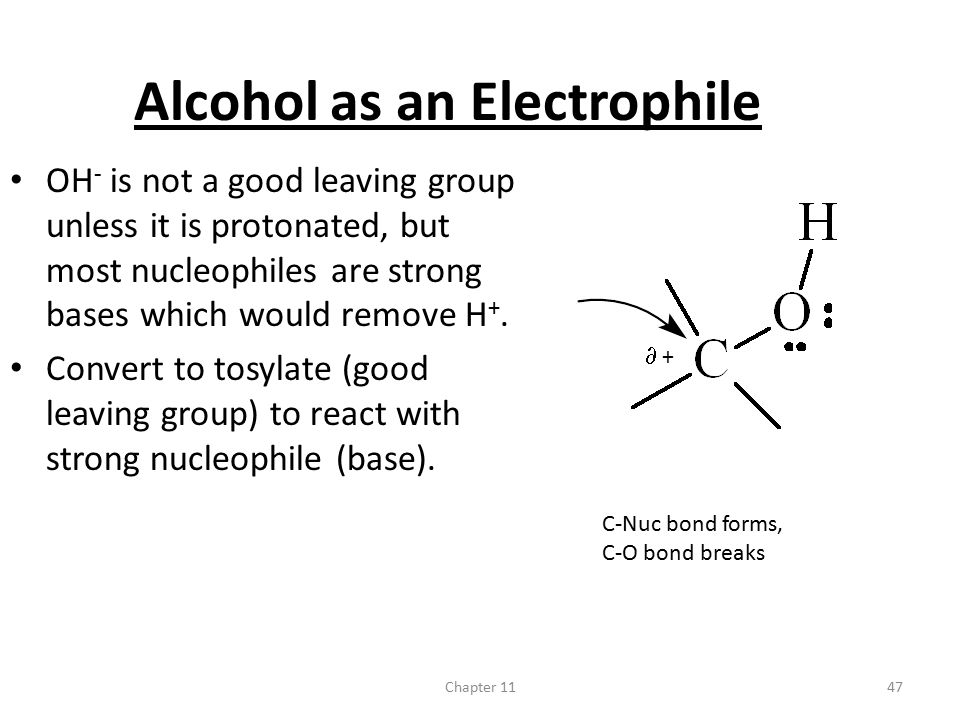 Alcohol as an Electrophile