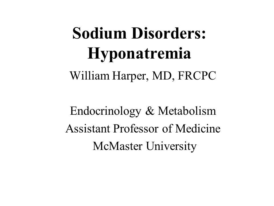 Sodium Disorders: Hyponatremia