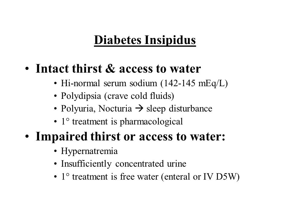 Intact thirst & access to water