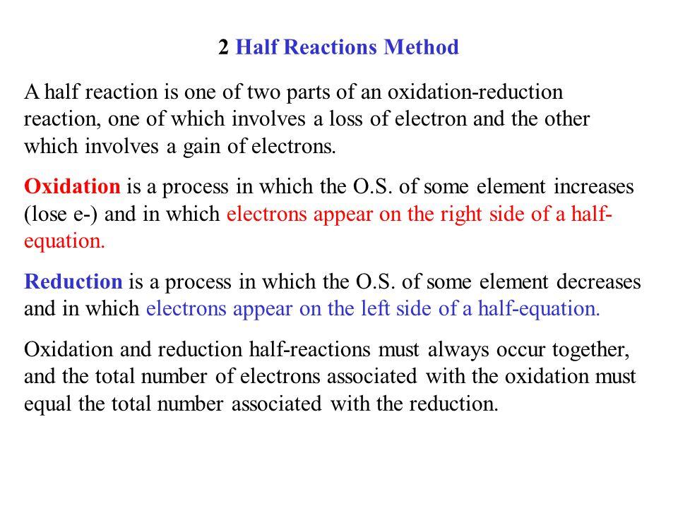 2 Half Reactions Method