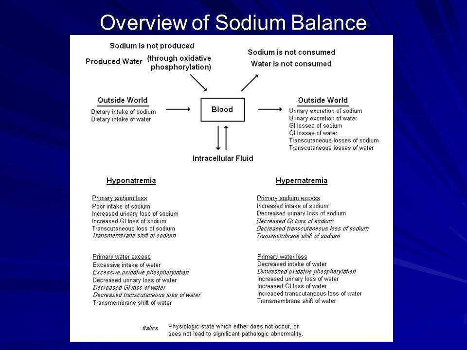Overview of Sodium Balance